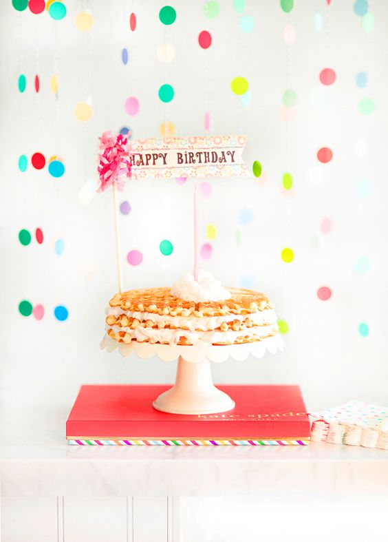 Birthday Waffle Cake, so fun and easy | mysplendidliving.com  #mysplendidliving