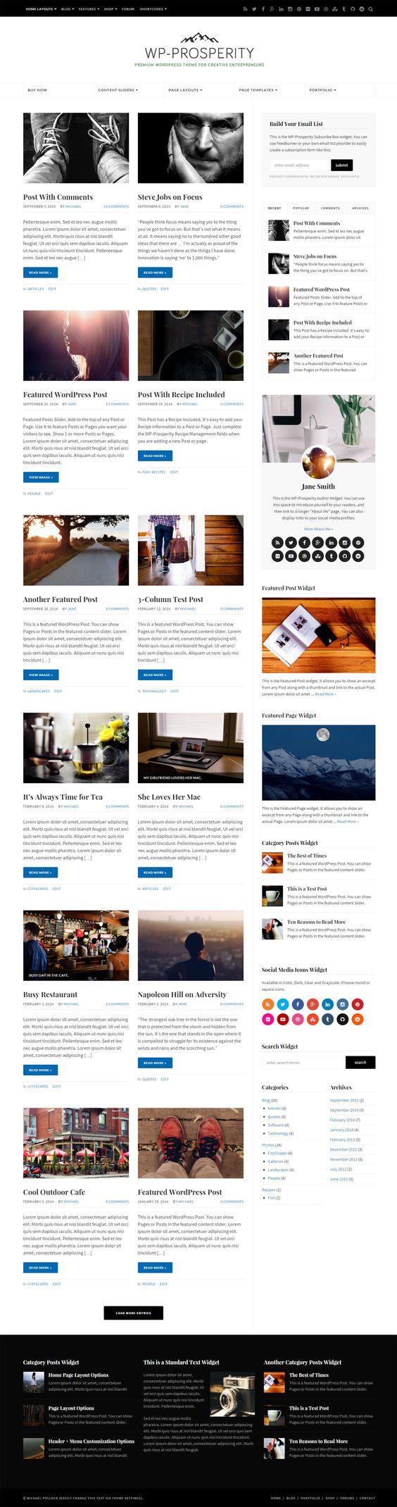 WP-Prosperity Premium Responsive WordPress Themes