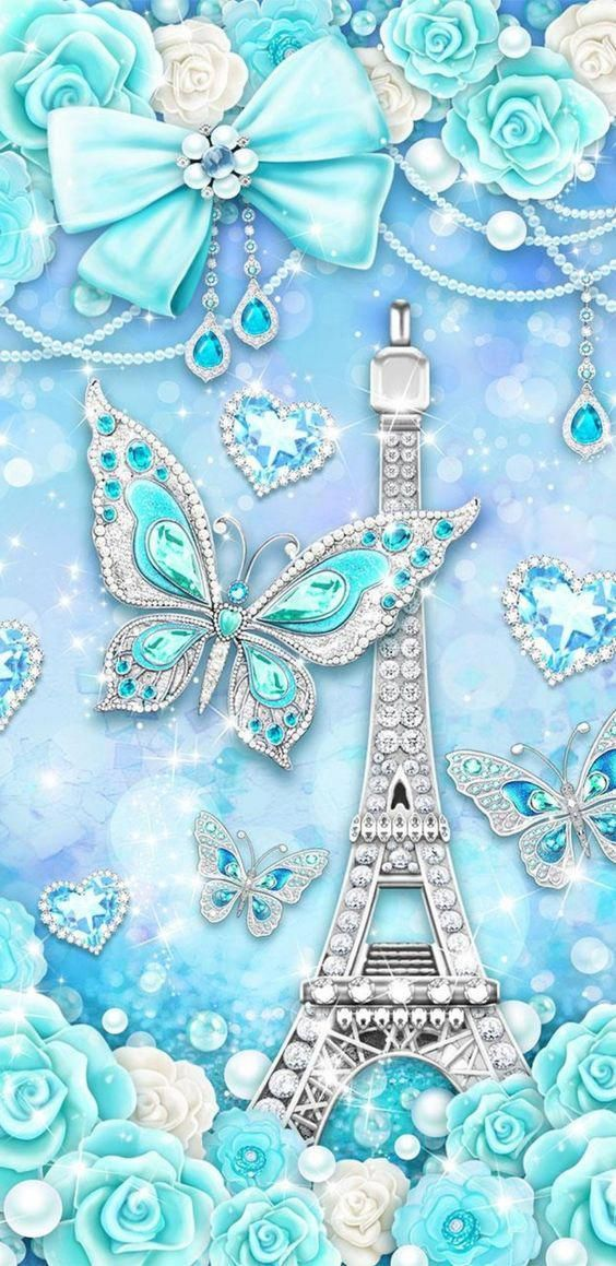 Pin On Paris Blue eiffel tower wallpaper hd