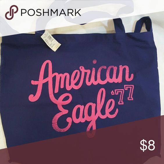 American Eagle tote bag Brand new, light weight, royal blue. New with tags American Eagle Outfitters Bags Totes