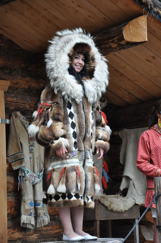 Fur Coat In The Native Alaskan Style Native Alaska