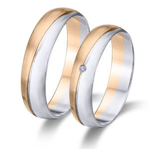 Wedding ring- Wedding band 18k or 9k solid rose and white gold.  www.niobejoyas.com Alianzas de boda en oro rosa y oro blanco.