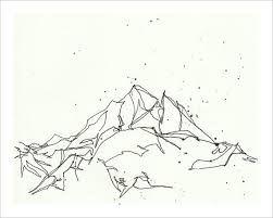 Resultado de imagen para mountain drawing