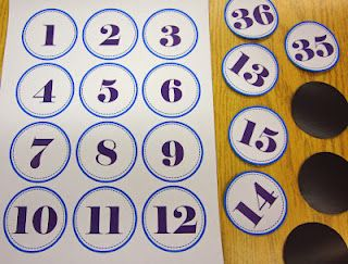 Free number set download (0 - 100).  I printed these off on magnetic paper.