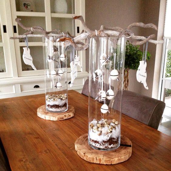 hoge vazen hoge glazen vazen decoreren pinterest