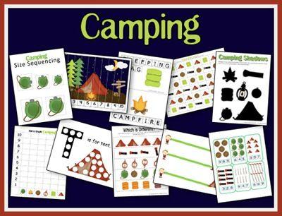 Free Camping Printables.