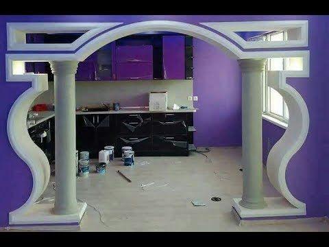 تشكيلة رائعة لديكورات الجبس المغربي العصري Youtube Ceiling Design False Ceiling Design Door Design