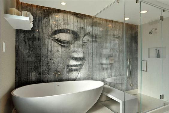 30 Quick and Easy Bathroom Decorating Ideas - http://freshome.com/bathroom-decorating-ideas/