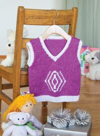 Sugar Plum Vest - from Love of Knitting's Holiday Knits 2014 Issue Use one of the charts from the Stitch Dictionary to create a festive vest for your little one to wear to a holiday party with the family. A touch of sparkle makes for a merry design that is sure to warm hearts.