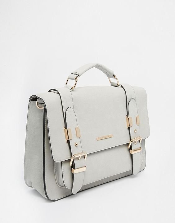 Image 2 of River Island Gray Large Satchel