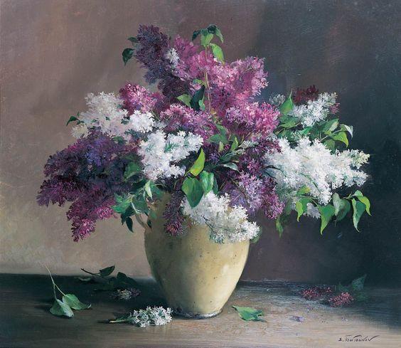 Sergei Tutunov ( b.1958) — Lilacs  of the Bois de Boulogne (1600×1388):