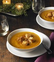 Get the recipe: Roasted butternut squash soup with apples and chipotle by MCC Chef Rick Bayless #macys #recipe