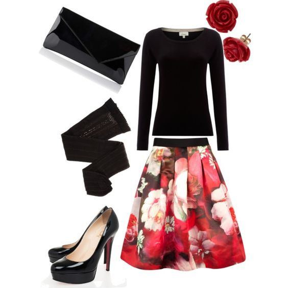 A fashion look from January 2014 featuring Linea sweaters, Ted Baker skirts and Trasparenze tights. Browse and shop related looks.