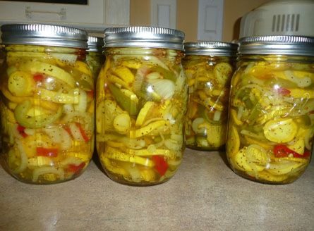 Yellow Squash Pickles. These are so scrumptious! I will be happy to open a jar…