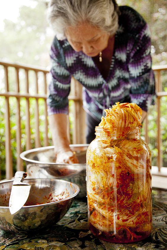 Halmeoni making Kimchi - I like the pictures of the Korean Grandmother making the Kimchi.