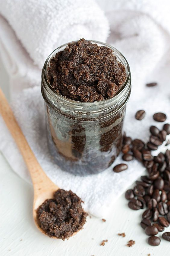 """DIY Frank Coffee Scrub- thanks to this recipe, my skin has never looked brighter and tighter! Pin now, get gorgeous """"perked up"""" skin later!"""
