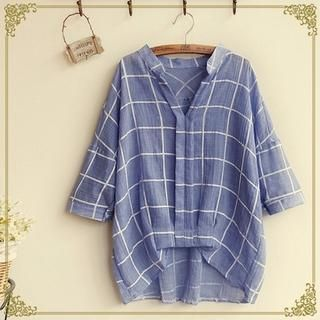 Buy 'Fairyland – Windowpane Check Blouse' with Free International Shipping at YesStyle.com. Browse and shop for thousands of Asian fashion items from China and more!
