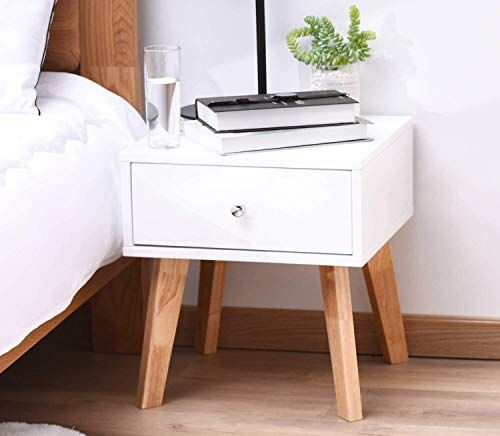 Best Seller Taohfe Nightstand White Night Stand Bedroom End Table Drawers Side End Wood Bedside Tables Drawer Living Room Night Table Online Findandbuyto In 2020 Wood Bedside Table Bedroom End
