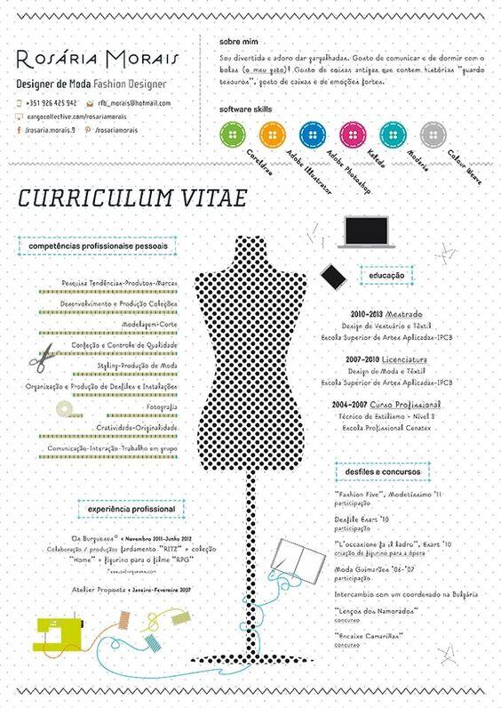 cv icons - Google Search Curriculum Vitae Creative Ideas - fashion designer resume
