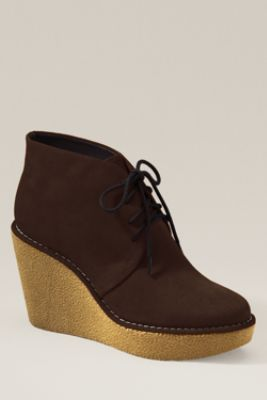 Women's Paxton Wedge Bootie from Lands' End Canvas