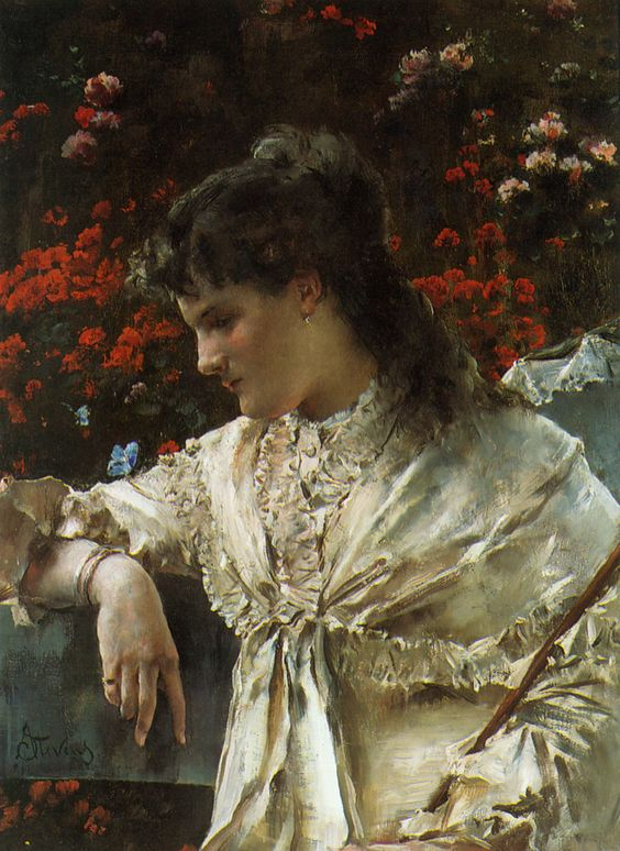 Art Renewal Center :: Alfred Stevens :: Reverie:
