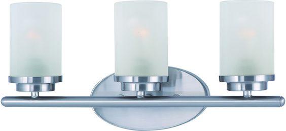 Maxim Lighting 10213FTSN Corona 3-Light Bath Vanity