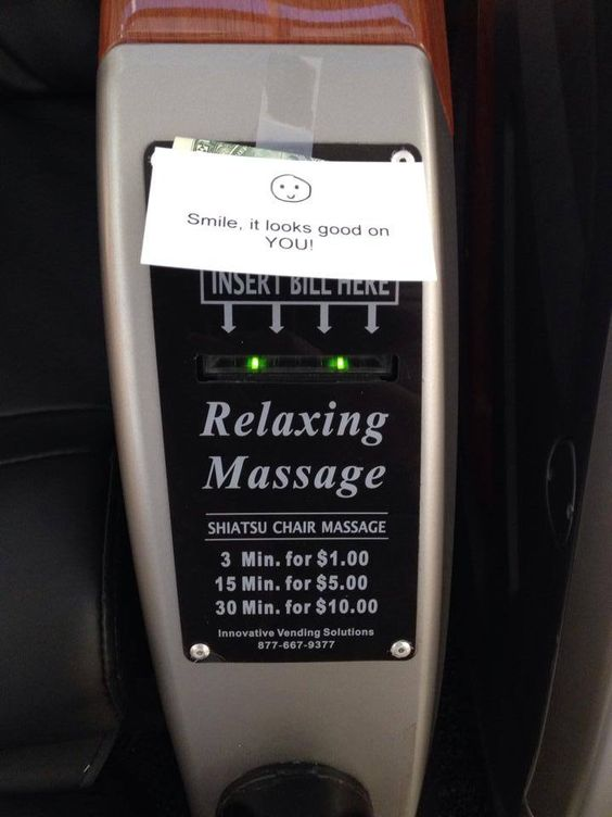 Who wouldn't enjoy a massage :-)