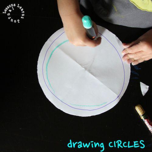 Drawing circles game.