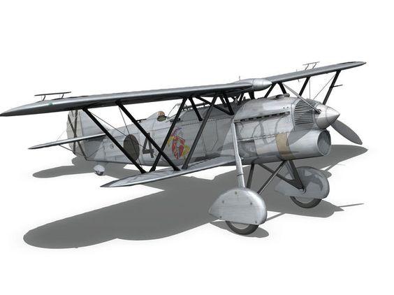 fiat cr 32 - italy air force - gruppo baleari 3d model obj fbx c4d lwo lw lws mtl 12