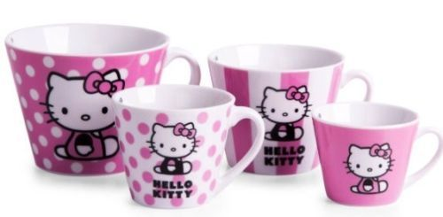 New #hello #kitty gift mug set ceramic #measuring mugs (4) in a gift box d/w safe,  View more on the LINK: http://www.zeppy.io/product/gb/2/162179733766/