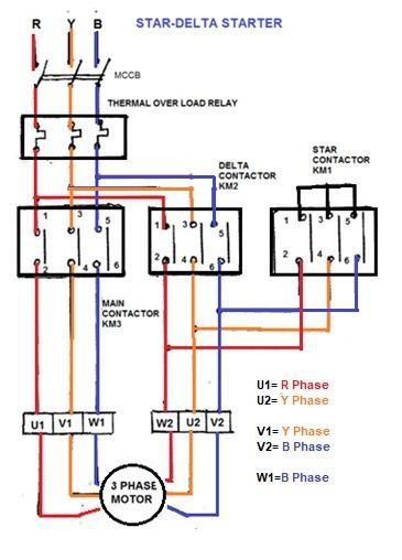 Star Delta Starter Electrical Circuit Diagram Basic Electrical Wiring Electrical Wiring