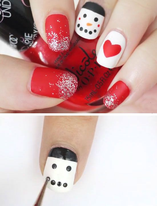 Easy Christmas Nail Art Ideas for Short Nails