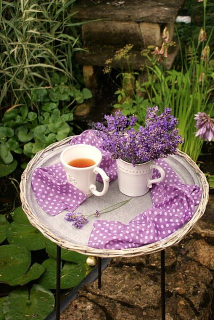 Tea time by the pond.  Tea At The Garden Place... (1) From: The Swenglish Home, please visit