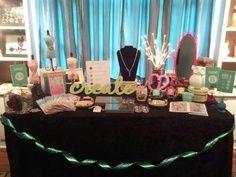 jewelry bar set up. https://www.facebook.com/#!/O2DesignerKimMichels