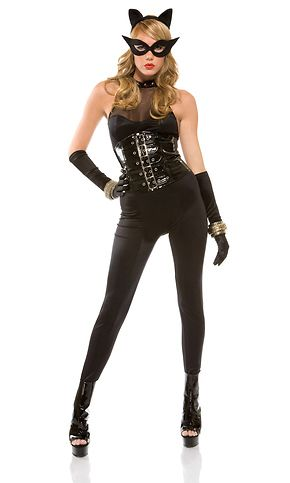 Looking for an edgier take on a sexy black cat? Our Meow Minx Sexy Cat Costume is puuuurfectly flattering as it emphasizes your sensual curves with its waist cincher.