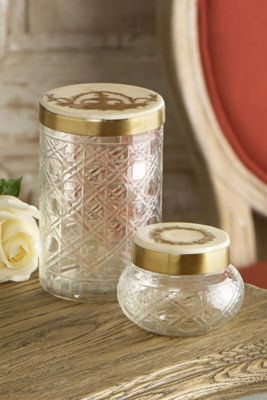 Cut Glass Box - Cut Glass Containers,  Lacquer Lid Containers, Glass Boxes | Soft Surroundings
