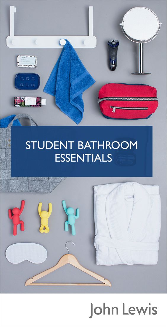 Stock up on fresh towels, bathroom accessories and cosmetics for your new student space to make your University Halls or Dorm feel like home.