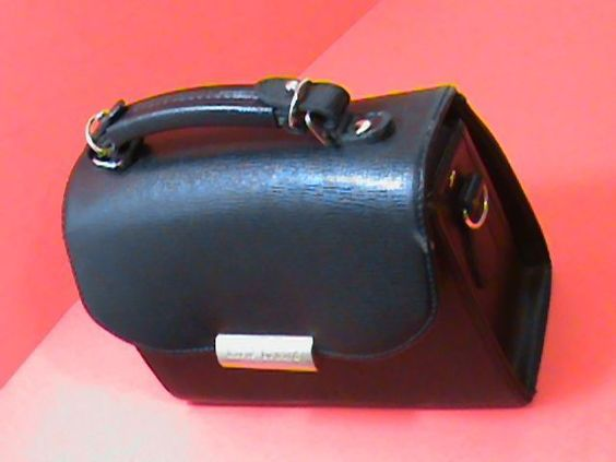 HARVE BENARD Black Kelly Bag HandBag Purse~Gold Tone Hardware #HARVEBENARD #ShoulderBag
