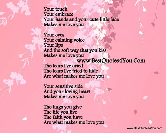 Why i like you poems for her