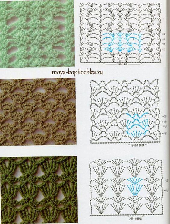 Colección de patrones y motivos, los de punto:
