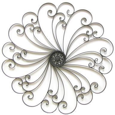 Metal Wall Decoration with Swirl Design Could do with