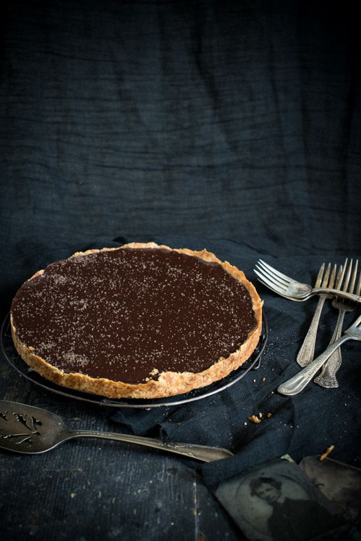 Chocolate Tart with Smoked Sea Salt | Leek Soup