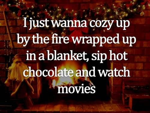 a few of my favorite things... / cozy, wrapped up in a blanket, watching movies...: