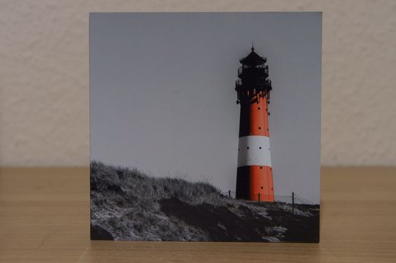 Foto auf Holz - Leuchturm