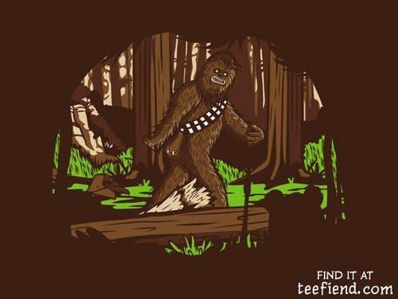 """The Bigfoot of Endor"" by HoboRobo is only $10 at RIPTapparel http://www.teefiend.com/5635/the-bigfoot-of-endor/"