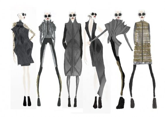Fashion Sketchbook - fashion drawings; collection line up; fashion portfolio // Hannah Eason: