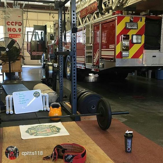 TRAIN HARD DO WORK   #Repost @cpitts118 Pretty sure station 9 has the best gym set up in the county. At least I have something to do while we stand in.  @geoftodeaf @savage_barbell @blitzbelts @555fitness #reebokcrossfit #misfitathletics #progenex #lynxbarbell #firefighter #firefit #fdic  __________________________________________  Want to be featured? Show us how you train hard and do work   Use #555fitness in your post and tag your friends for fun…