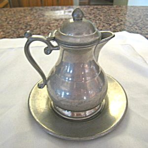 Vintage pewter syrup pitcher for sale at More Than McCoy at http://www.morethanmccoy.com