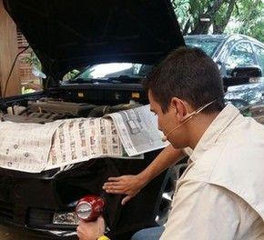 Aprenda a desamassar seu carro com secador de cabelo (Foto: Ivo Madoglio/ TV Globo)