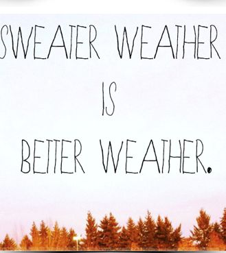 So true! I'm ready for extra cuddles, bon fires, chilly evening walks and bundled up early morning service!